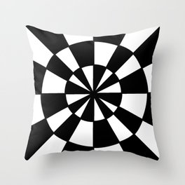 Optical pattern 78 -wheel Throw Pillow