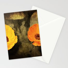 A close-up of a flower of Adonis on a grunged canvas background Stationery Cards