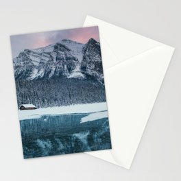 Sunset at Lake Louise Stationery Cards