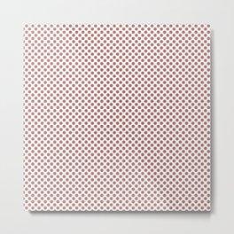 Canyon Rose Polka Dots Metal Print