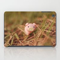 pig iPad Cases featuring Pig by Natália Viana ♥