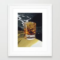 whiskey Framed Art Prints featuring whiskey by Mirawek Wolff