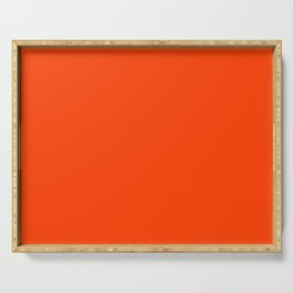 Bright Fluorescent Neon Orange Serving Tray
