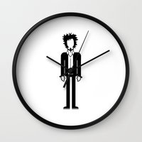 tom waits Wall Clocks featuring Tom Waits  by Band Land