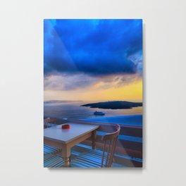 Santorini 25 Metal Print