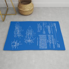 Space Shuttle Patent - Blueprint Rug