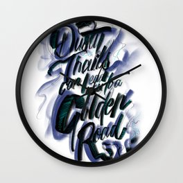 Dusty Trails Wall Clock
