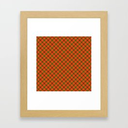 Tami Plaid Test Framed Art Print