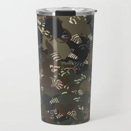 Raccoon camouflage Travel Mug