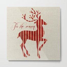 'Tis The Season - Deer Metal Print