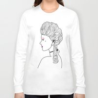 marie antoinette Long Sleeve T-shirts featuring Marie Antoinette by Nicholas Darby