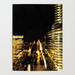 Night Skyscrapers Poster