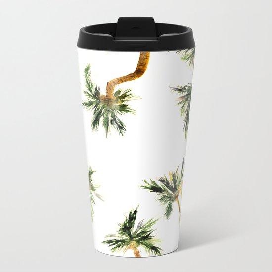 Under the coconut palms Metal Travel Mug