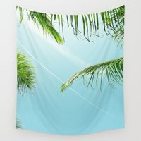plane Wall Tapestries featuring Palm Plane by Invisible Machinery