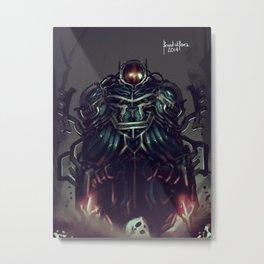 Jetblack Reaper Metal Print
