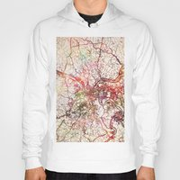 pittsburgh Hoodies featuring Pittsburgh by MapMapMaps.Watercolors
