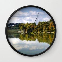 Fall Lake Landscape Wall Clock