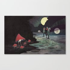 Mushroom Hunting Canvas Print