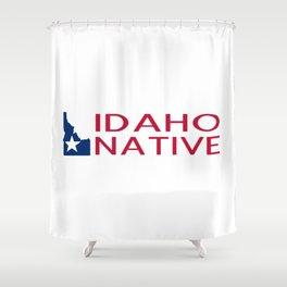 Idaho Native with Idaho Shape and Star Shower Curtain