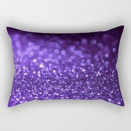 Pantone Color 2018 Ultra Violet Purple Glitter Rectangular Pillow
