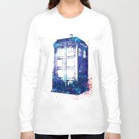 tardis Long Sleeve T-shirts featuring Tardis by lauramaahs