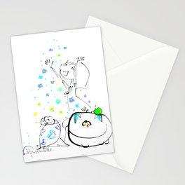 raining flowers Stationery Cards