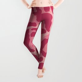 Cheetah Print Pattern in Kitschy Pink Leggings