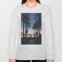 SUNRISE - SUNSET - PALM - TREES - NATURE - PHOTOGRAPHY Long Sleeve T-shirt