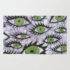 green eyes batik Rug