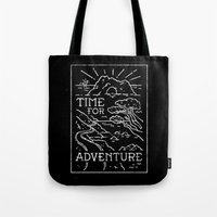 TIME FOR ADVENTURE (BW) Tote Bag