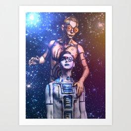 R2-D2 and C-3PO Art Print