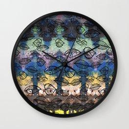 Autumn background Wall Clock