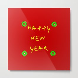 happy new year 12 Metal Print