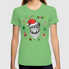 Merry Christmas Bulldog T-shirt