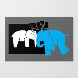 Smashing the Bell Elephant Canvas Print