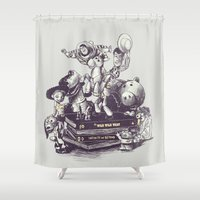 toy story Shower Curtains featuring Toy Story by Alex Solis