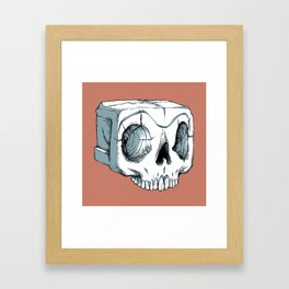 Sugar Cube Skull Framed Art Print