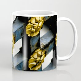 Gray Blue French Architecture with Parisian Gold Flowers Coffee Mug