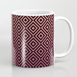 Square Illusion Pattern Coffee Mug