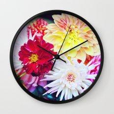 Darling Dahlias I Wall Clock