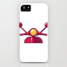 Scooter Vintage Retro Moped And Scooter Gifts iPhone Case