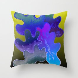 Relaxing Ornamental Spirits. Meditative iFi Art. Stress and Pain Free with MYT3H. Neon. Dreamy. Throw Pillow