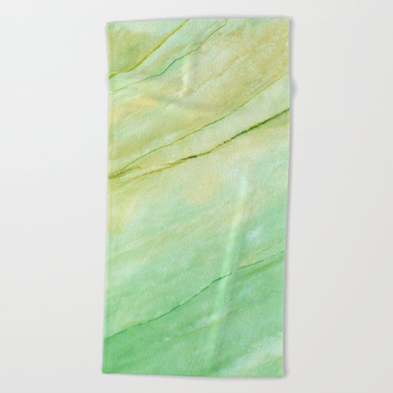 Light green marble Beach Towel