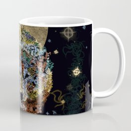 floral animals wolf and stars Coffee Mug