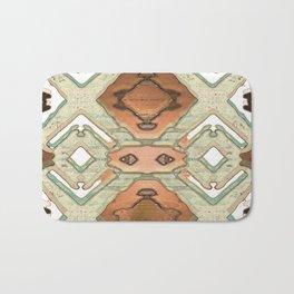 Copper Geometric Antique Bath Mat