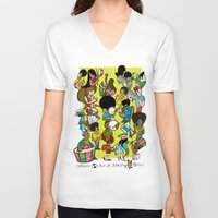 rio V-neck T-shirts featuring CARNAVAL RIO by Valter Brum