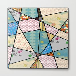 Mixed Pattern Perfect Square Metal Print