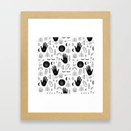 Witchy Patterns Framed Art Print