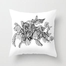 Fern Floor :: Single Line Throw Pillow