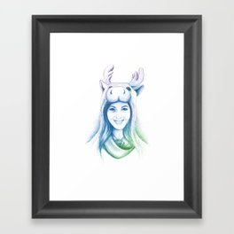 Speechless Collection - Moose Woman Framed Art Print